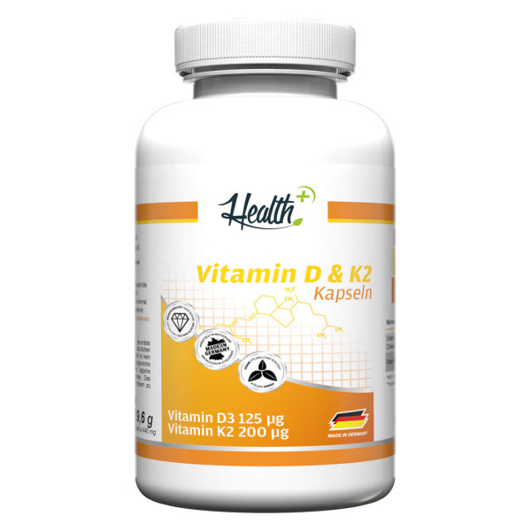 HEALTH+ VITAMINA D3 & K2 capsule, 90 capsule