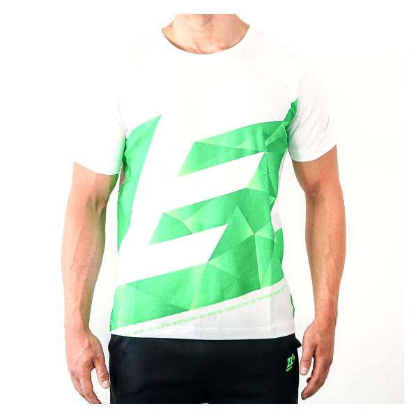 ZEC+ maglietta uomo ATHLETIC POLYGON in bianco