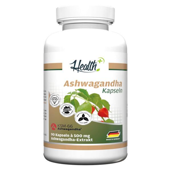 HEALTH+ ASHWAGHANDA CON KSM-66, 90 CAPSULE
