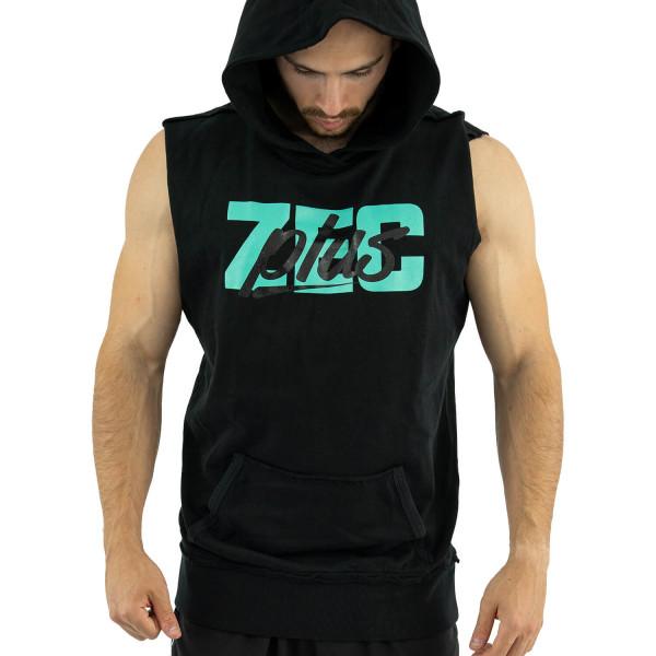 ZEC+ Felpa con cappuccio senza maniche SCRIPT